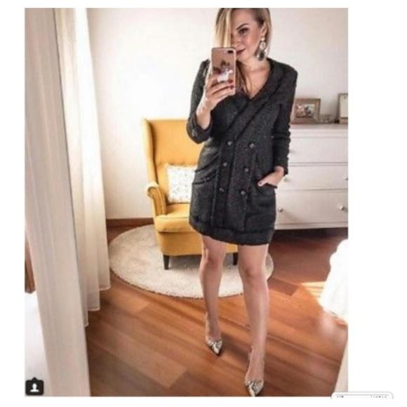 f73d875bc6e5 Zara Dresses | Tweed Blazers Dress 8196 | Poshmark